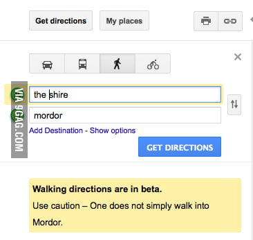 Google Maps: Middle Earth Status - 9GAG
