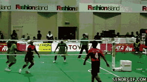 Ladies and gentlemen, sepak takraw!