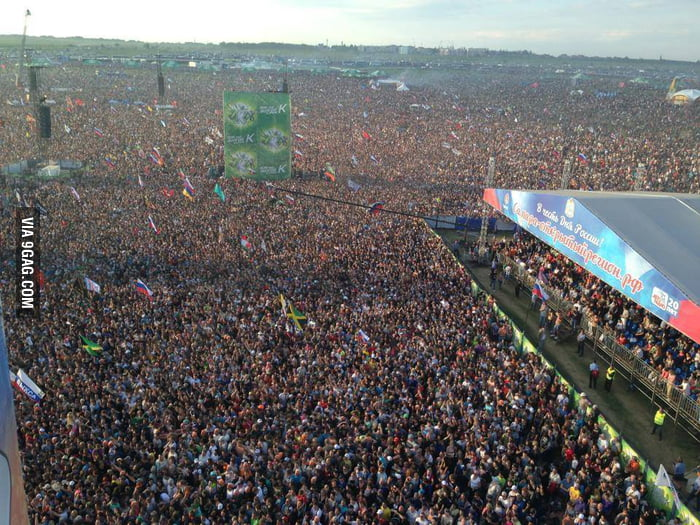 600.000 Russians waiting for Rammstein - 7th biggest concert ever - 9GAG
