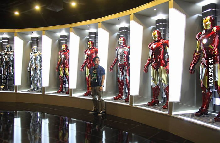 Foyer Museum Parking : Iron man s hall of armor in a philippine toy museum gag