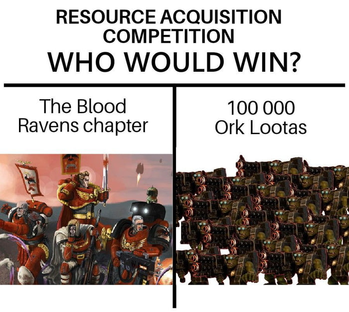 Note: this meme has hereby been gifted to the Blood Ravens ...