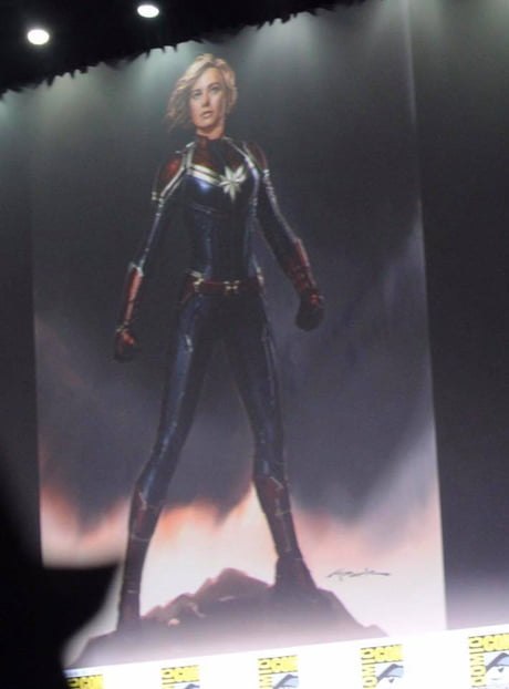 Captain Marvel costume art from SDCC 2017