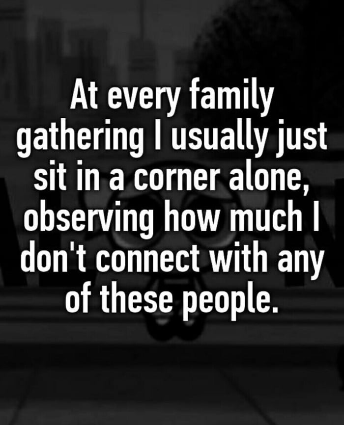 I go back home to remind myself that I hate my family & give myself