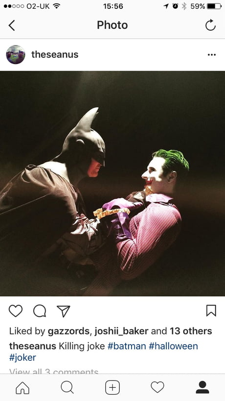 Me and my friend on Halloween a couple years ago. How did we do? (P.s I'm the Joker)