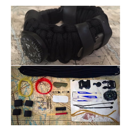 I make paracord bands loaded with tactical survival kits. Everything you could need on your wrist! Let me know what you think.