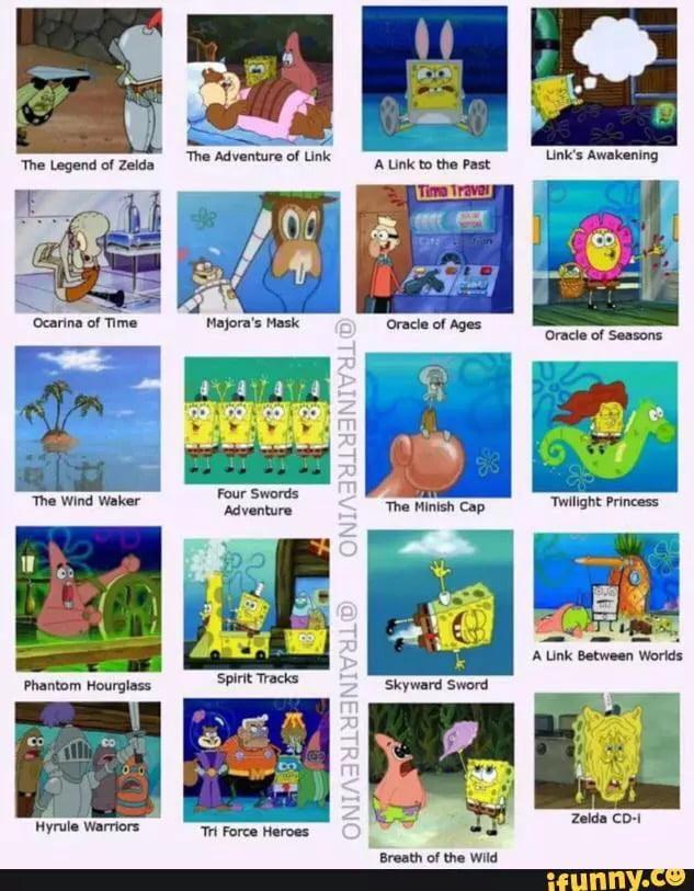 Legend Of Zelda Spongebob Comparison Charts