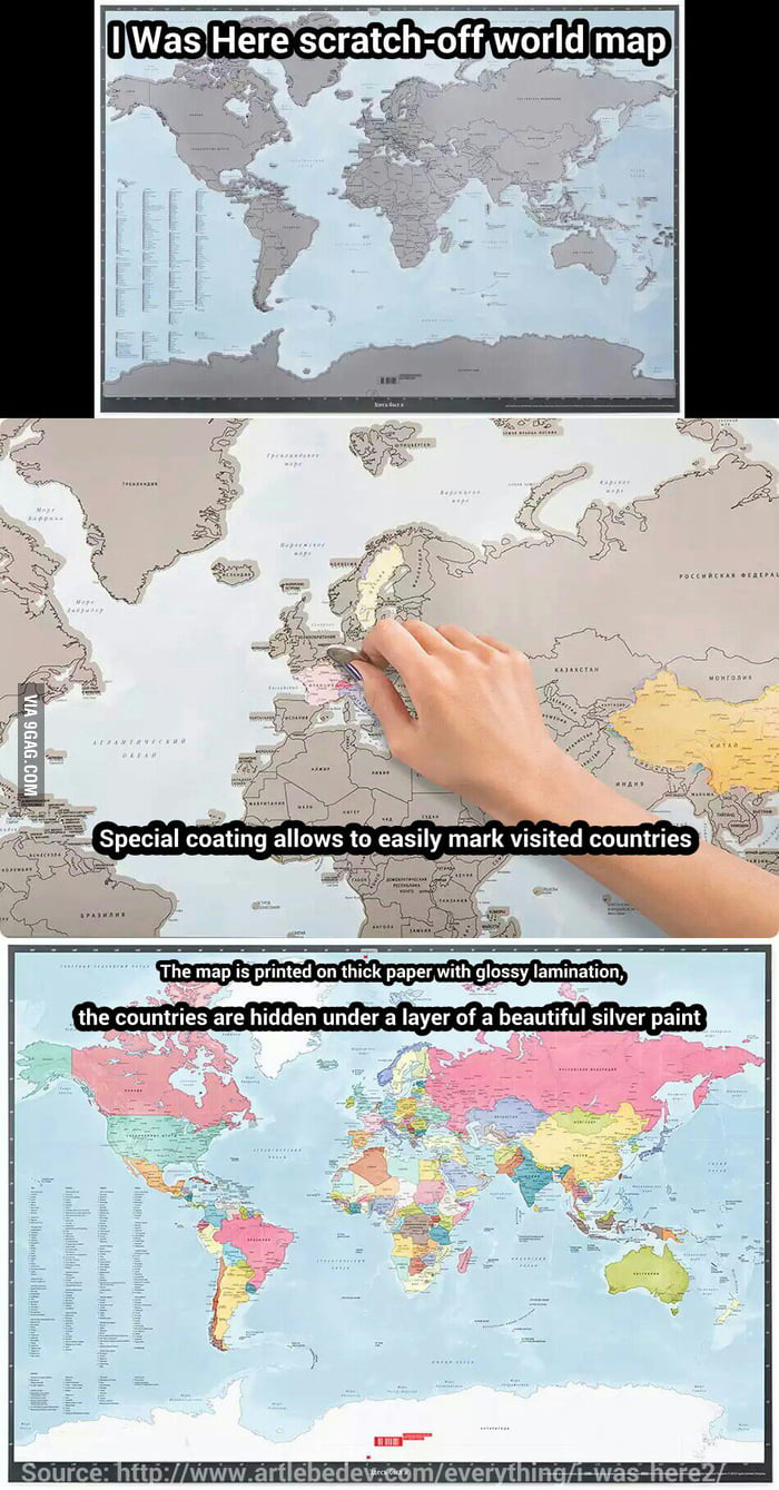 Just a scratch off world map to mark countries youve visited 9gag just a scratch off world map to mark countries you039ve visited gumiabroncs Choice Image
