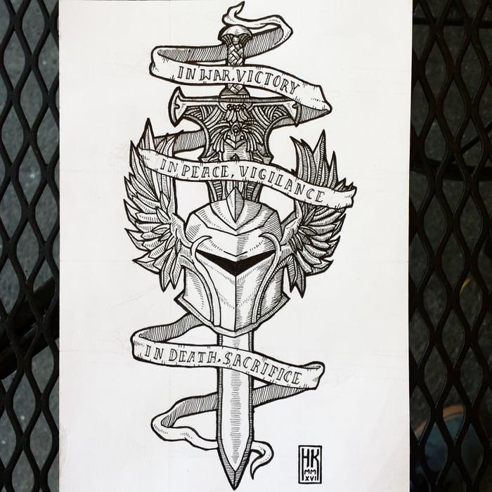 Designed A Grey Warden Tattoo For A Friend 9gag