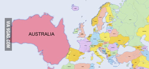 Map Of Australia Meme.World Map According To Eurovision 9gag