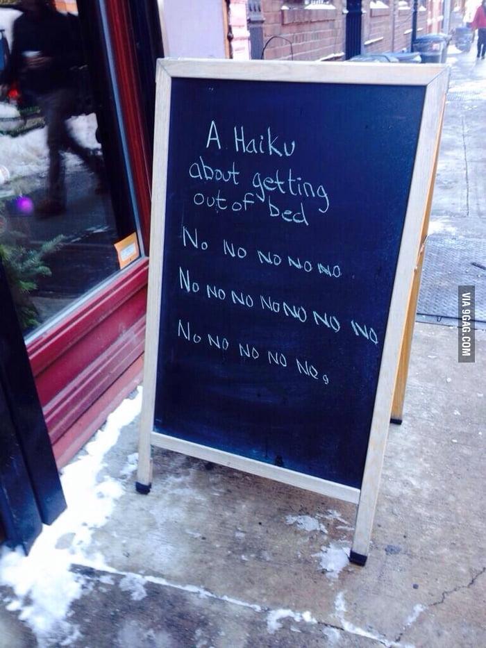 A deep, meaningful haiku