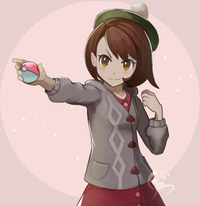 The New Protagonist Female Of Pokemon Sword And Shield By Artist