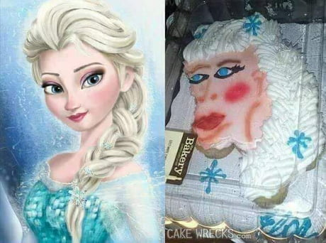 Sensational When You Order A Elsa Birthday Cake But Get King Kong Instead 9Gag Funny Birthday Cards Online Overcheapnameinfo