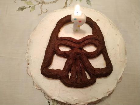 Admirable Darth Vader Birthday Cake 9Gag Birthday Cards Printable Trancafe Filternl
