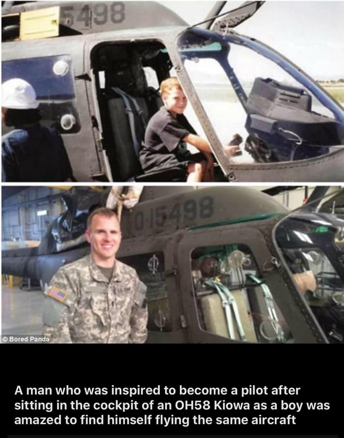 A man who inspired to become a pilot after sitting in the