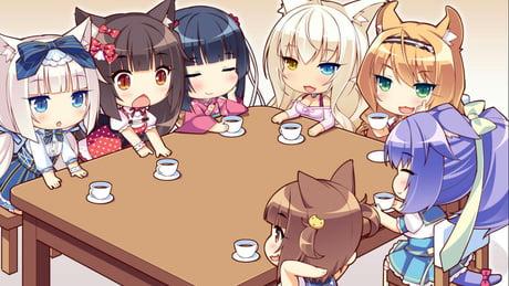 Oni-san and imouto with six neko..