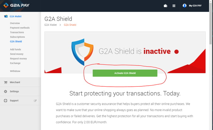 Looks like G2A is finally making cancelling a shield subscription