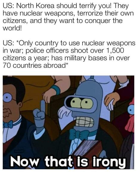 Irony over 9000