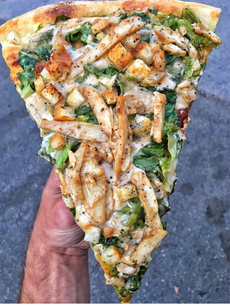 For those who are against pineapple in pizza..le me present the cesar chiken salad one