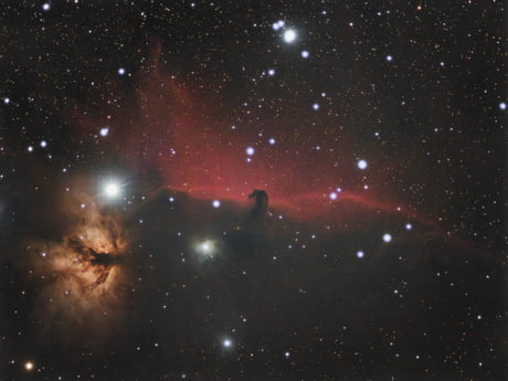 My picture of the horsehead nebula, a great target in the winter constellation Orion