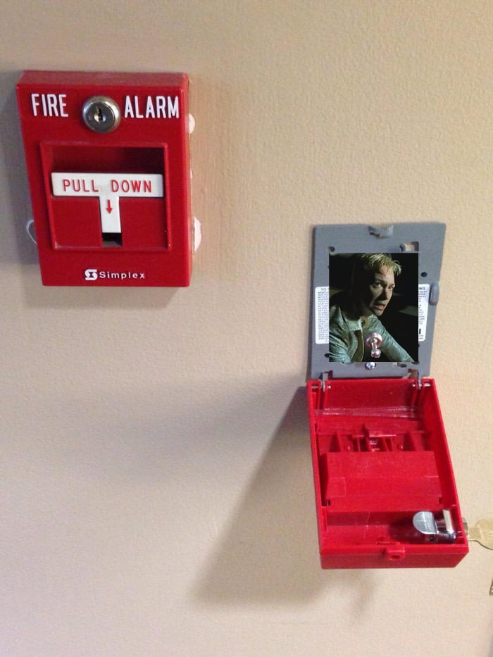 "The inside of a fire alarm is just a ""simple"" Switch."