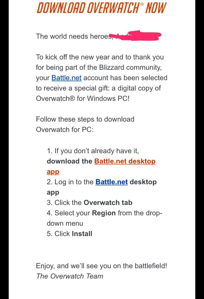 Blizzard gave me overwatch for free - 9GAG