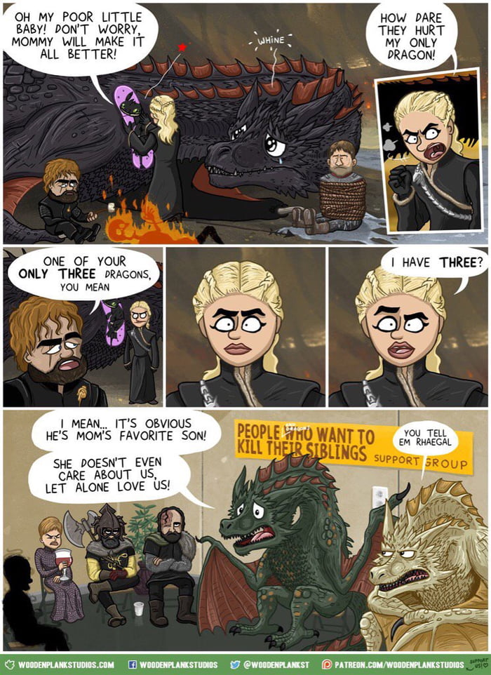 They may not be real but I feel bad for Rhaegal and Viserion