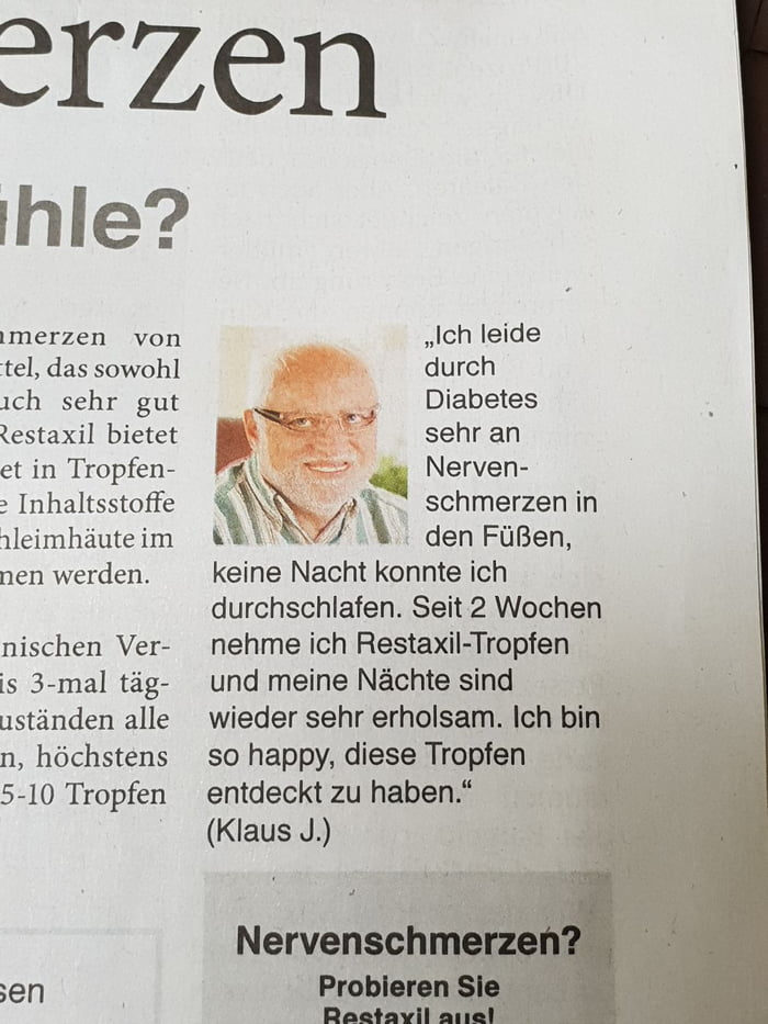 Hide the Pain Harold in local newspaper! - 9GAG