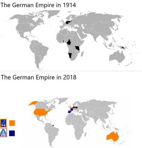 The German Empire in 1914 vs 2018 - 9GAG