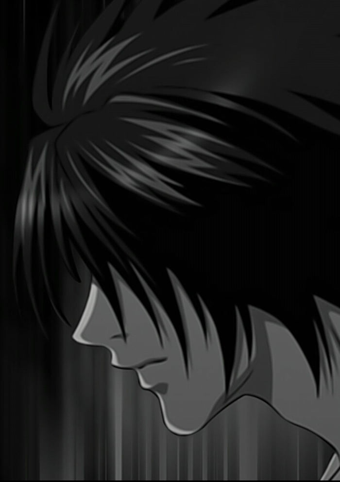 Death Note L Wallpaper Srry For Bad Quality 9gag