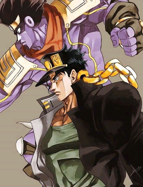 Jotaro and Star Platinum fan art - 9GAG