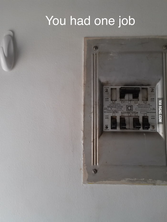 So the circuit breaker at my new house was installed upside down ...