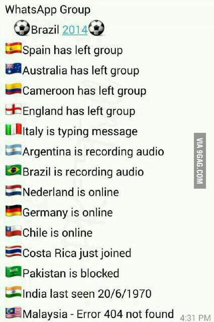 If the World Cup was a Whatsapp group - 9GAG