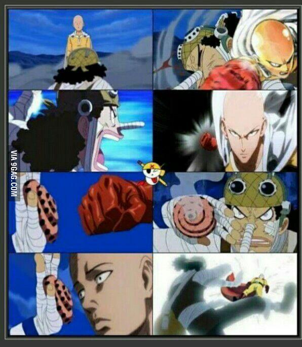 God Usopp vs Saitama ! - 9GAG
