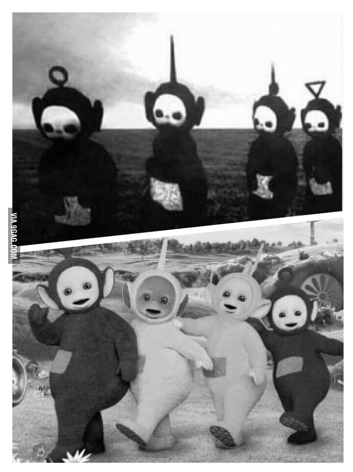 For the guy who said teletubbies in black and white would be creepy