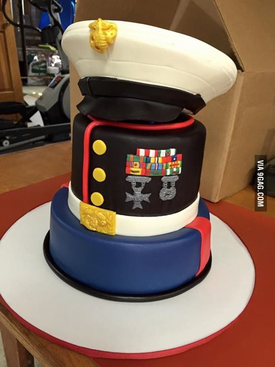 marine wedding cake 80th birthday cake for a friend s a retired us 17135