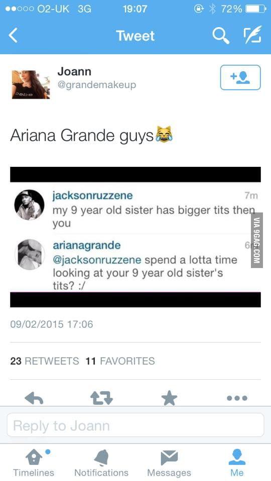 Ariana Grande responding to trolls on Instagram! - 9GAG