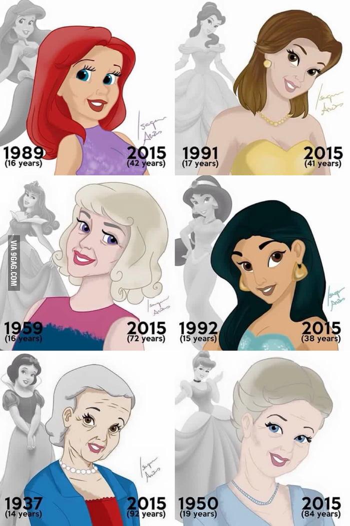 Disney Princesses age updated. - 9GAG