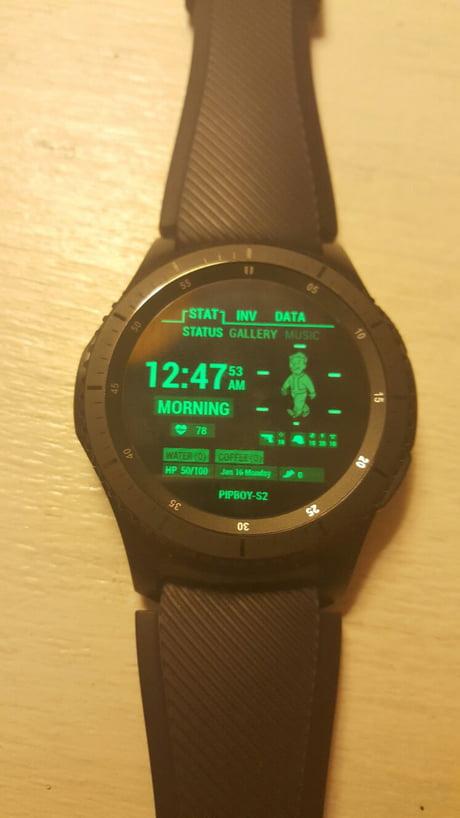 My Gear S3 Frontier has a Pip Boy watch face - 9GAG