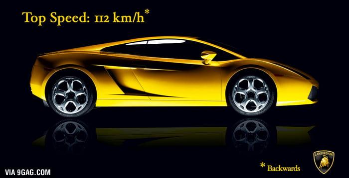 Lamborghini Top Speed 112 kmh  9GAG