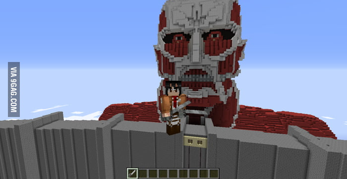 Minecraft+attack on titan=AWESOME (I did not build the titan