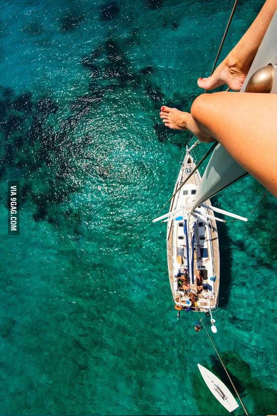 Sitting on the mast