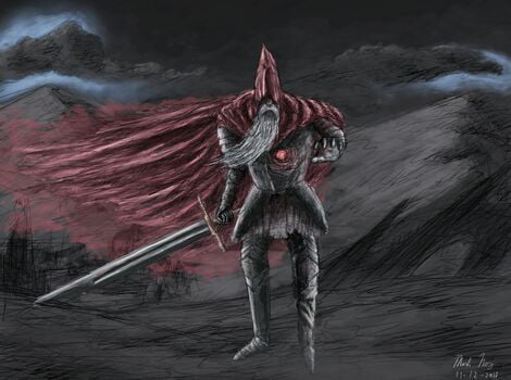 One Of The Most Epic Duels Ive Had In Months Now Presumably The Last Two Men In The World The Unkidled One Vs Slave Knight Gael Wallpaper 9gag
