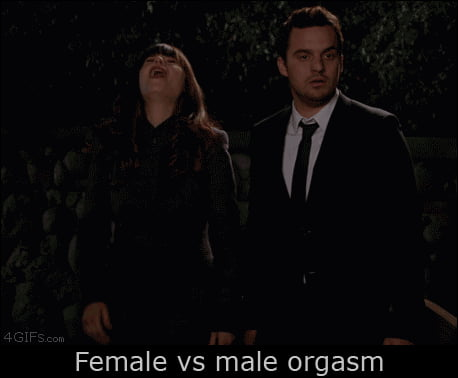 Male and female orgasm