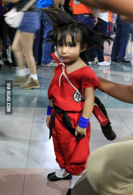 Cute cosplay of Goku