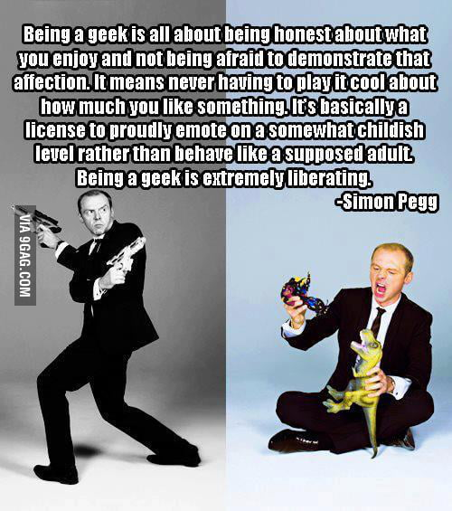 Wise words from Simon Pegg