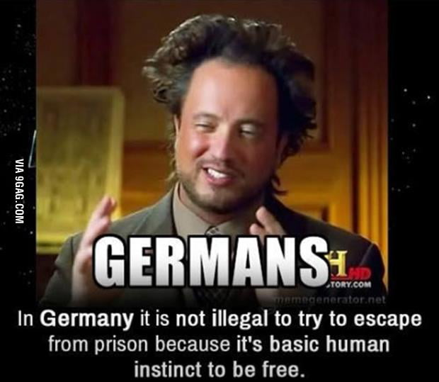 Trying to escape from prison in Germany...