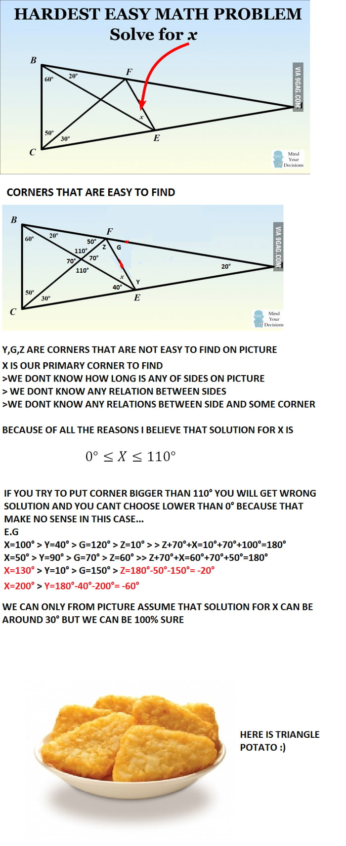 Hardest easy math problem (possible solution) - 9GAG
