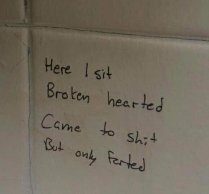 Bathroom Poetry GAG - Bathroom poetry