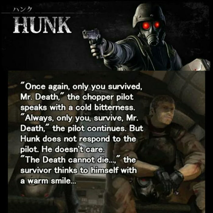 Best Quote Ever From My Favourite Character From Resident Evil Hunk