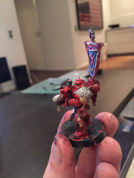 I just painted my first ever space marine!